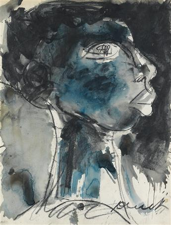 JAMES DENMARK (1936 -   ) Untitled (Profile of a Woman).