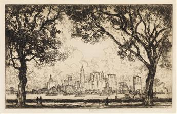 JOSEPH PENNELL Two etchings.