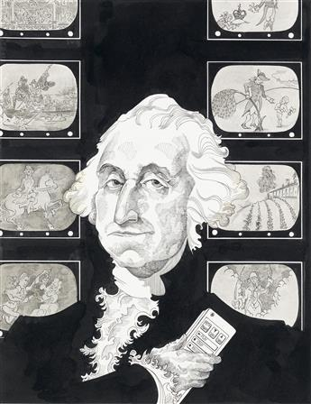 (CARTOON) VINT LAWRENCE. Washington, The Myth Maker.