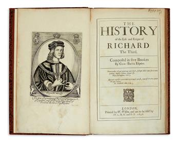 BUCK, GEORGE. The History of the Life and Reigne of Richard the Third.  1646