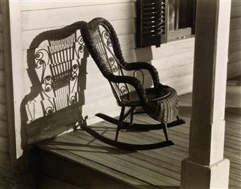 STEINER, RALPH (1899-1986) American Rural Baroque (wicker rocking chair).