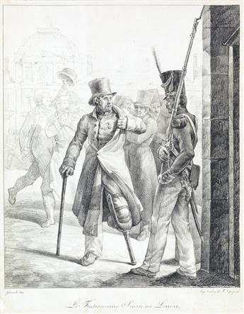THÉODORE GÉRICAULT Le Factionnaire Suisse au Louvre.