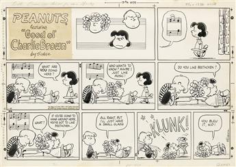 (CARTOON) CHARLES SCHULZ. Do you like Beethoven?