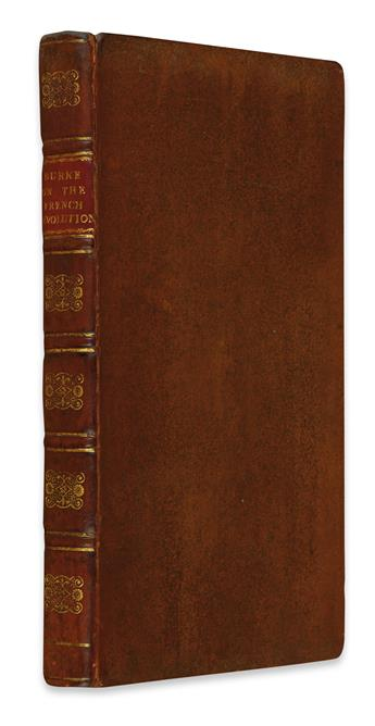 BURKE, EDMUND. Reflections on the Revolutions in France.  1790