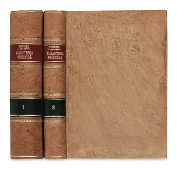 TRAVEL  VINDEL, PEDRO. Biblioteca Oriental.  2 vols.  1911-12