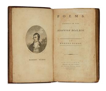 BURNS, ROBERT. Poems, chiefly in the Scottish Dialect.  1787