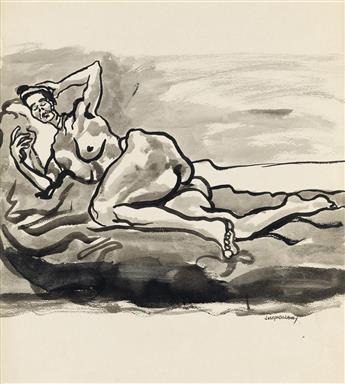 JOSEPH DELANEY (1904 - 1991) Untitled (Reclining Nude).