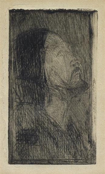HENRY OSSAWA TANNER (1859 - 1937) Head of Christ.