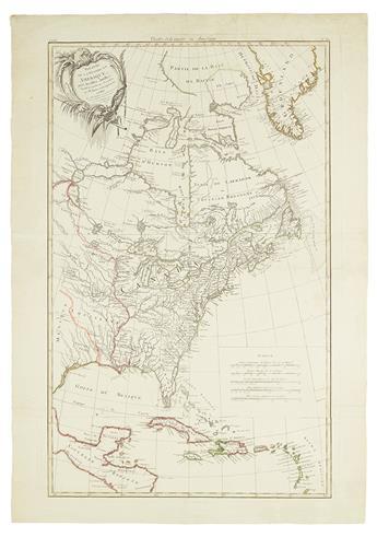 BONNE, RIGOBERT. Theatre de la Guerre en Amerique avec les Iles Antilles.