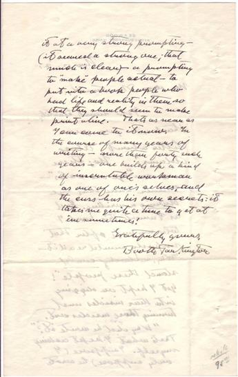 TARKINGTON, BOOTH. Autograph Letter Signed, to My dear Mr. Kennedy,