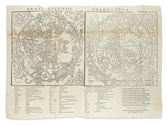 (CELESTIAL.) Aratus of Soli; and Hyginus, Gaius Julius. Arati Solensis Phaenomena, et Prognostica,