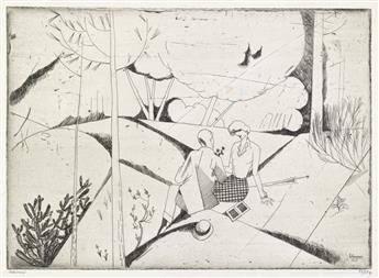 JEAN-ÉMILE LABOUREUR Group of 7 prints.