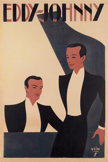 PSIM (DATE UNKNOWN). EDDY - JOHNNY. 1938. 46 x31 inches, 118x 80 cm. Harford, Paris.