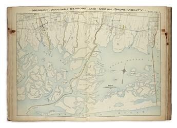 (NEW YORK -- LONG ISLAND.) Hyde, E. Belcher. Atlas of Nassau County Long Island N.Y. Complete in One Volume.
