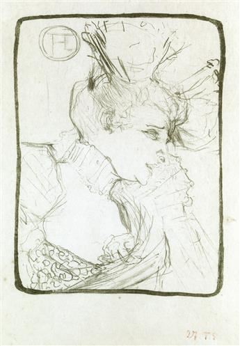 HENRI TOULOUSE-LAUTREC Mademoiselle Marcel Lender, en buste.