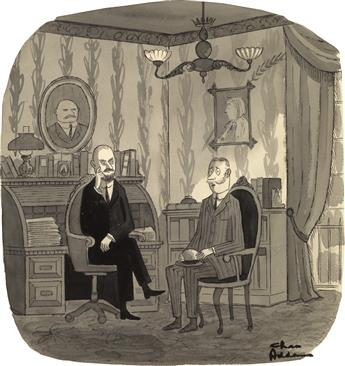 (THE NEW YORKER / CARTOON / TELEVISION / ADVERTISING.) CHARLES ADDAMS. Ive been troubled lately by an eerie, recurring dream. I seem