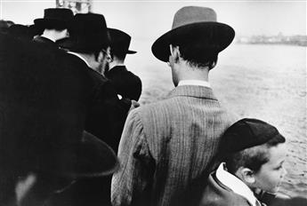 ROBERT FRANK (1924- ) Yom Kippur, East River, New York City.