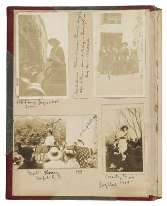 (WOMEN.) Scrapbook compiled by suffragist Florence Harmon.