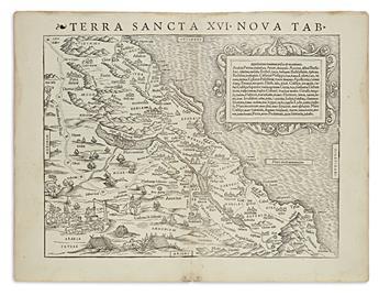 (HOLY LAND.) Münster, Sebastian. Terra Sancta XVI Nova Tab.