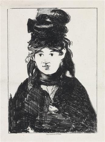 ÉDOUARD MANET Berthe Morisot, en noir.