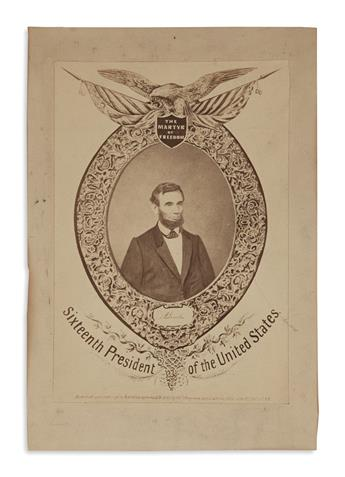 (PHOTOGRAPHY.) The Martyr of Freedom, A. Lincoln, Sixteenth President of the United States.