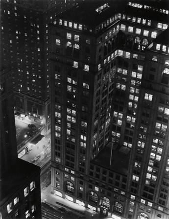 WOOLF, PAUL J. (1899-1985) Looking down on Grand Central Station.