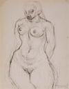 CHARLES WHITE (1918 - 1979) Female Nude.