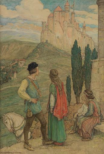 ALICE BARBER STEPHENS. Approaching the Castle.