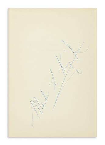 KING, MARTIN LUTHER; JR. Stride Toward Freedom. Signed, Martin L. King Jr., vertically on the front free endpaper.