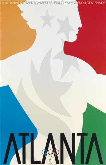 PRIMO ANGELI (1931-2003). ATLANTA OLYMPICS. 1996. 34x22 inches, 86x56 cm. Fine Art Ltd, St. Louis.