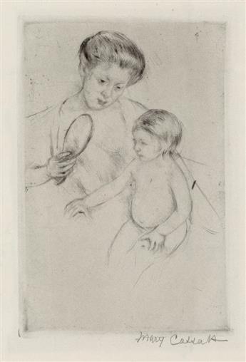 MARY CASSATT Looking into the Hand Mirror (No. 1).