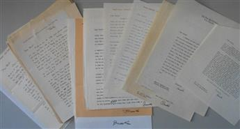 ATKINSON, BROOKS. Archive of over 30 letters Signed, Brooks, to printmaker and type designer Bert Chambers (Dear Brick), including