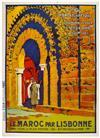 ED. M. SANDOZ (DATES UNKNOWN). LE MAROC PAR LISBONNE. Circa 1920. 41x29 inches, 104x74 cm. EDIA, Paris.