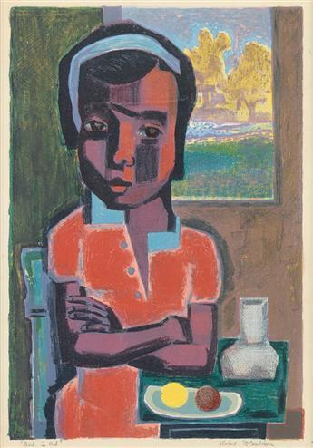 ROBERT BLACKBURN (1920 - 2003) Girl in Red.
