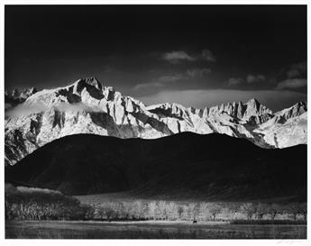 ANSEL ADAMS (1902-1984) Winter Sunrise, Sierra Nevada, from Lone Pine, California.
