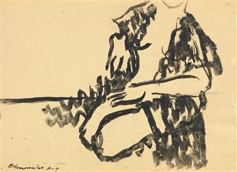 BOB THOMPSON (1937 - 1966) Untitled (Seated Nude).