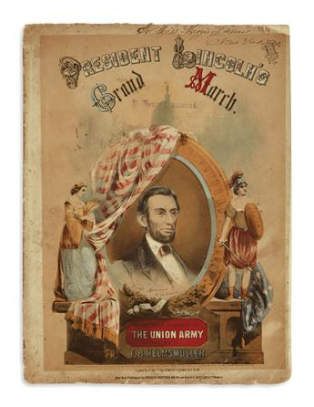(EPHEMERA.) 5 pieces of illustrated Lincoln music.