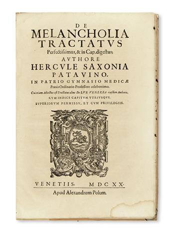 SASSONIA, ERCOLE. De melancholia tractatus perfectissimus.  1620