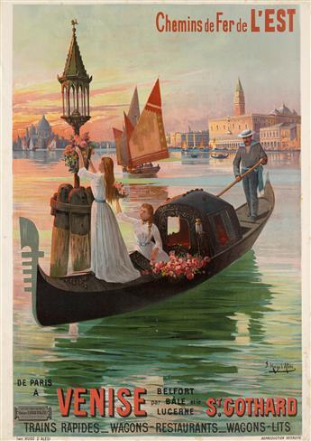 F. HUGO DALÉSI (1849-1906). CHEMINS DE FER DE LEST / VENISE. 1899. 41x29 inches, 105x75 cm. Hugo dAlési, Paris.