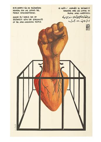 (CIVIL RIGHTS.) OSPAAL. Group of 4 African-American themed posters, produced by this Havana-based poster collective.