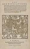 NOSTRADAMUS, MICHEL DE.  1559  Les Significations de lEclipse, qui sera le 16. Septembre 1559.