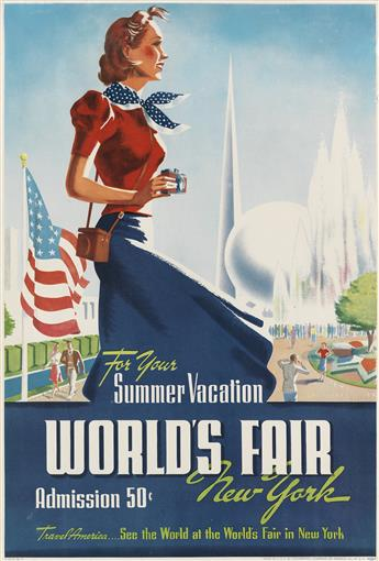 VARIOUS ARTISTS. NEW YORK WORLDS FAIR. Group of 6 posters. 1939. Sizes vary.