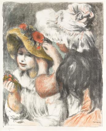 PIERRE-AUGUSTE RENOIR Le Chapeau Épinglé (2e planche).
