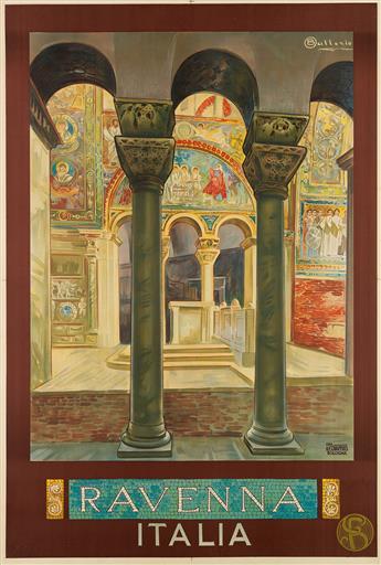 OSVALDO BALLERIO (1870-1942). RAVENNA / ITALIA. Circa 1914. 44x29 inches, 111x75 cm. E. Chappuis, Bologna.