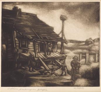 DOX THRASH (1893 - 1965) Georgia Cotton Crop.