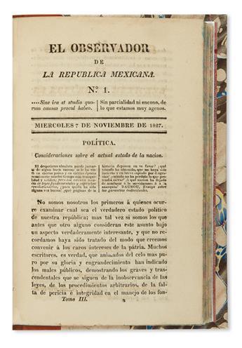 (MEXICO.) El observador de la República Mexicana.