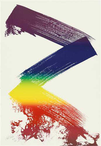 PAUL JENKINS Untitled II (Prism Zig-Zag).
