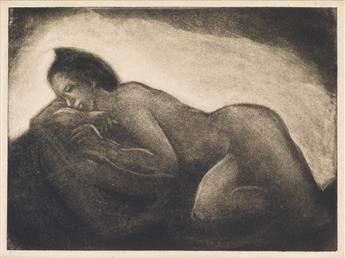 DOX THRASH (1893 - 1965) Untitled (Nude Model, Asleep).