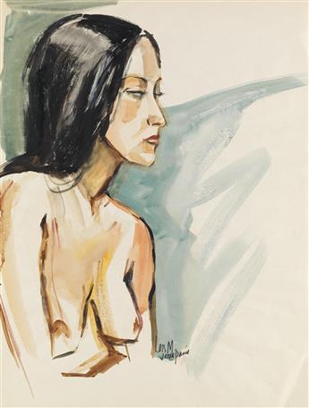 LOÏS MAILOU JONES (1905 - 1998) Untitled (Nude).
