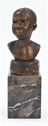 AUGUSTA SAVAGE (1892 - 1962) Untitled (Possibly Martiniquaise or Head of a Martinique Woman).